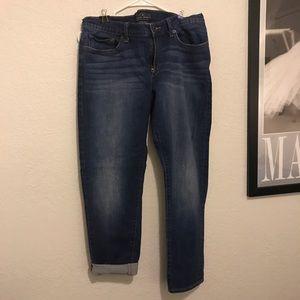 Lucky brand crop boyfriend jeans size 12